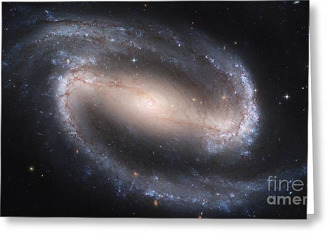 Barred Spiral Galaxy Ngc 1300 Greeting Card by Stocktrek Images