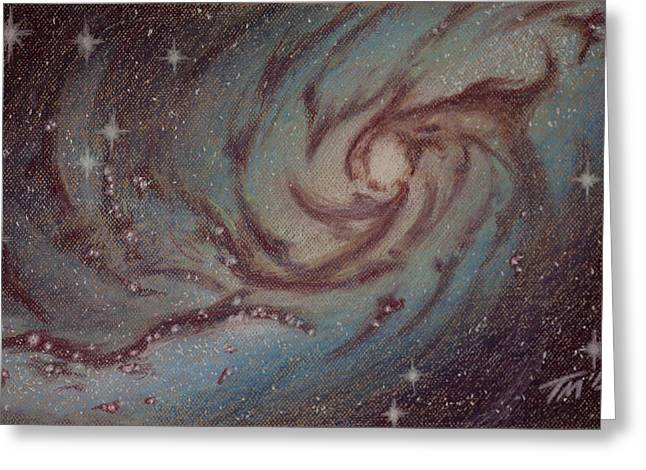 Barred Spiral Galaxy Ngc 1313 Greeting Card by Thomas Maynard