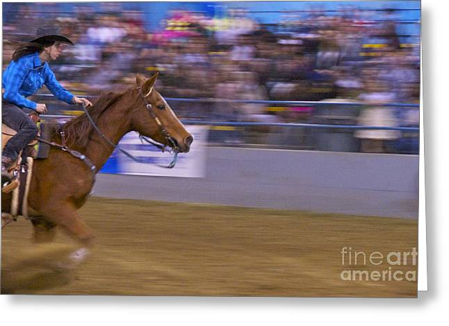 Barrel Racer 1 Greeting Card by Sean Griffin