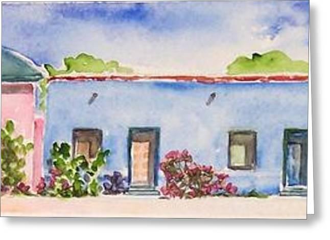 Barrio Viejo Greeting Card by Regina Ammerman