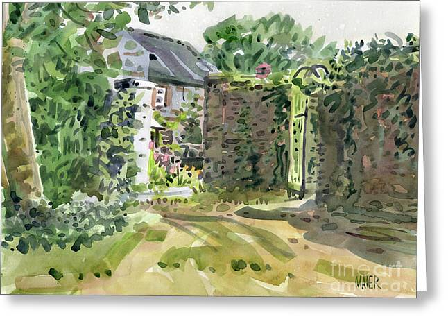 Barry House Greeting Card by Donald Maier