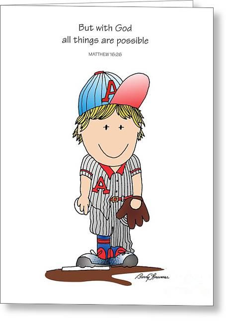 Baseball Greeting Card by Barry Louwerse