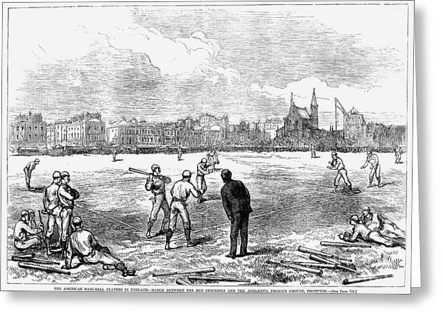 Baseball: England, 1874 Greeting Card by Granger