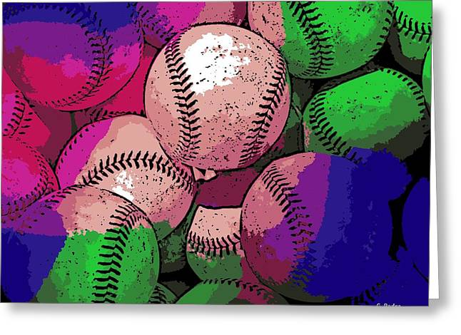 Baseball Greeting Card by George Pedro