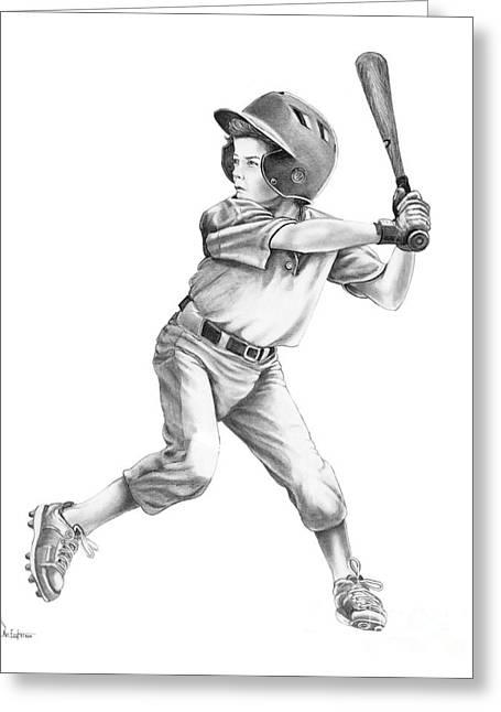 Baseball Kid Greeting Card by Murphy Elliott