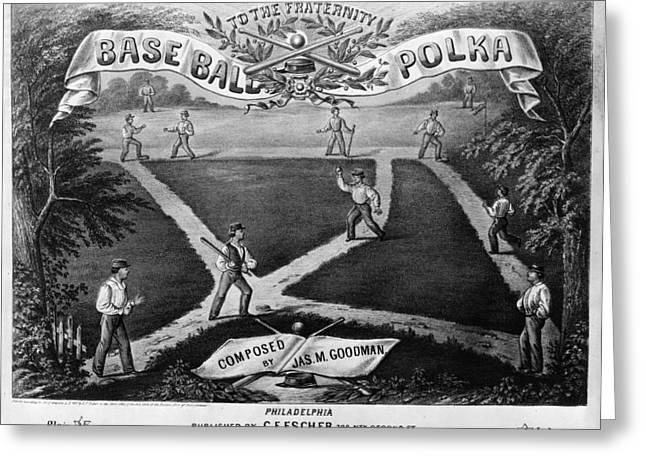 Baseball Polka, 1867 Greeting Card by Granger