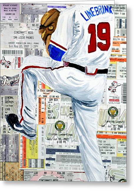 Baseball Tickets Greeting Card by Michael Lee