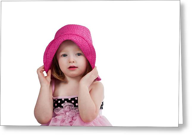 Bashful Girl Greeting Card