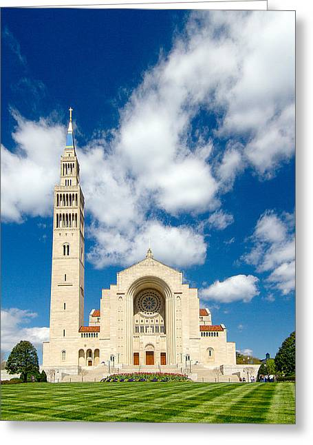 Basilica Of The National Shrine Of The Immaculate Conception Greeting Card