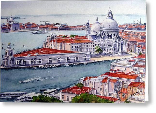 Basillica Di Santa Maria Della Salute Greeting Card by Ronald Tseng