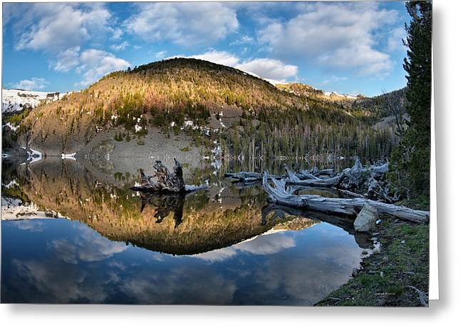 Basin Lake Sunrise Greeting Card by Leland D Howard