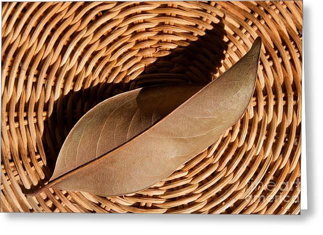 Basket Of Brown Greeting Card