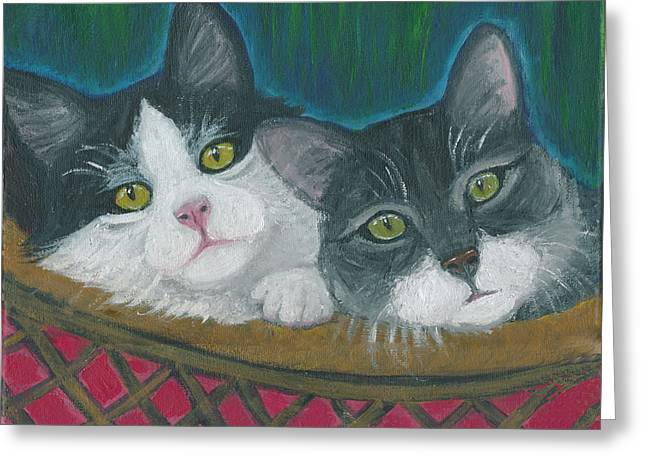 Basket Of Kitties Greeting Card