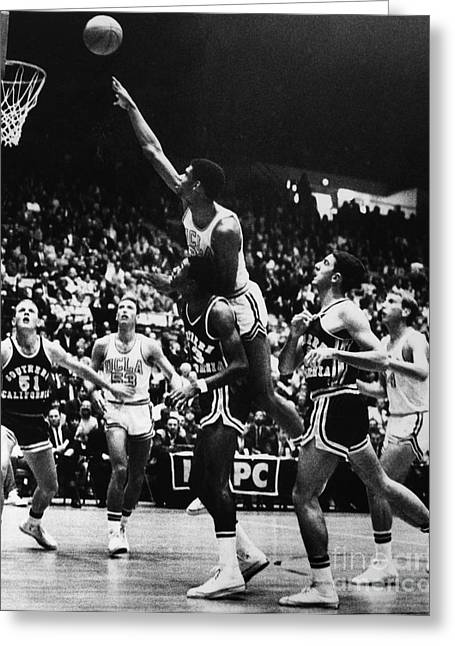 Basketball Game, 1966 Greeting Card
