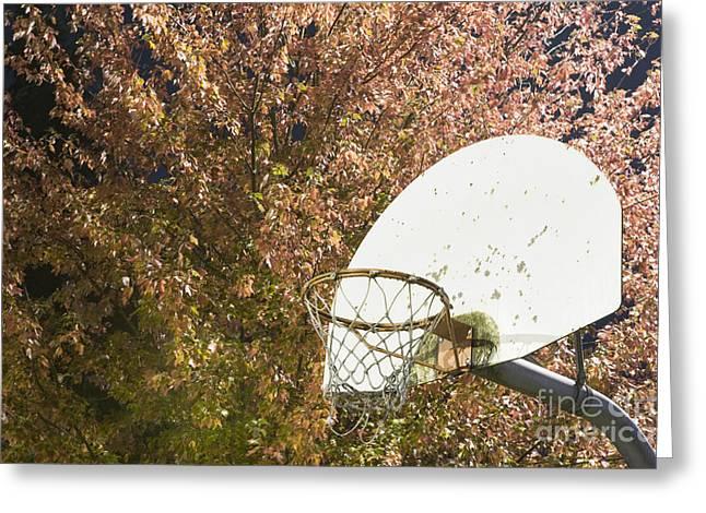 Basketball Hoop Greeting Card by Andersen Ross