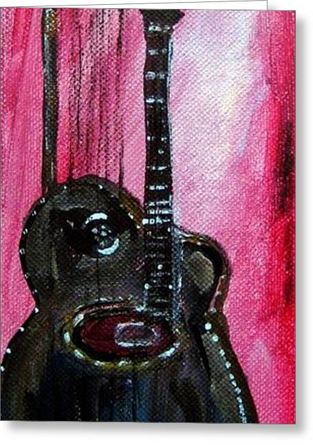 Bass  2 Greeting Card by Amanda Dinan