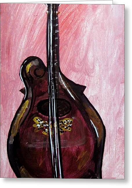 Greeting Card featuring the painting Bass by Amanda Dinan