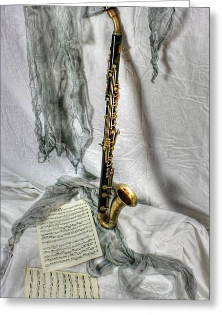Bass Clarinet Greeting Card by Dan Stone
