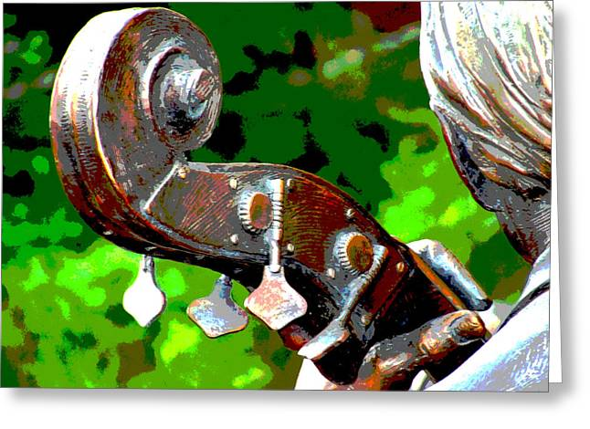 Bass Fiddle Greeting Card by Charlie and Norma Brock