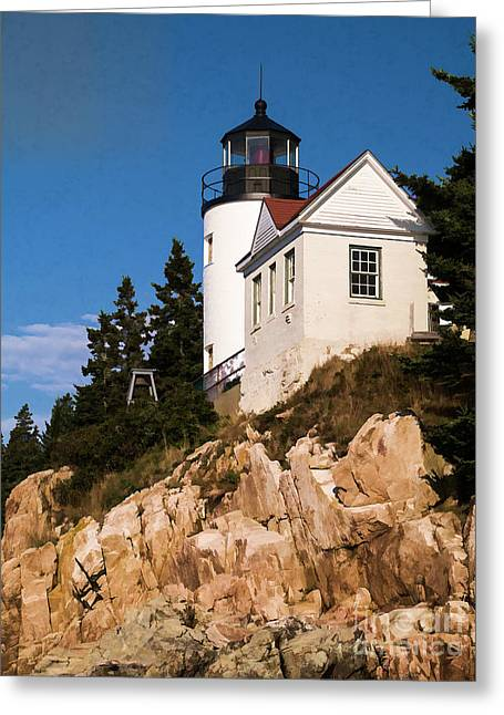 Bass Harbor Light Acadia National Park Maine Greeting Card