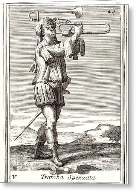 Bass Trombone, 1723 Greeting Card by Granger