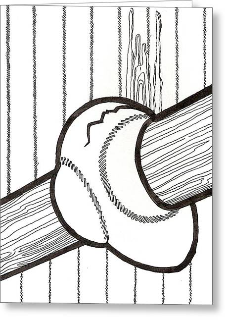 Bat And Ball Egg Greeting Card