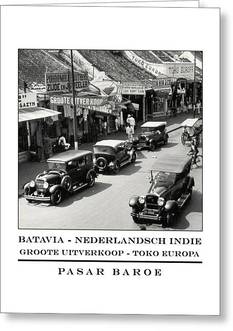 Batavia Pasar Baroe Greeting Card by Nick Diemel
