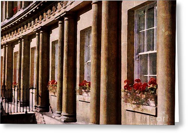 Greeting Card featuring the photograph Bath Royal Crescent by Deborah Smith