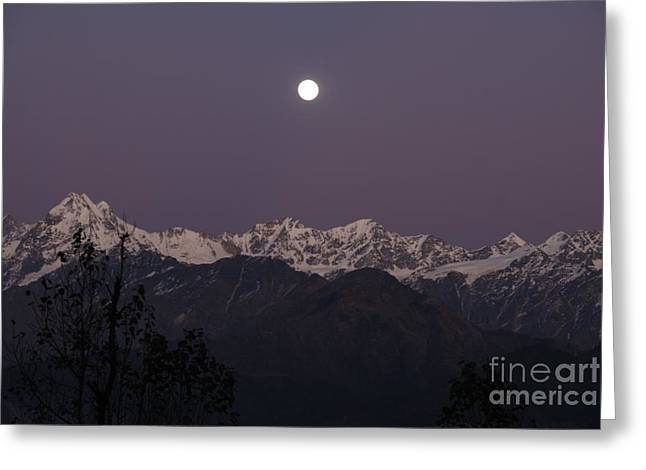 Greeting Card featuring the photograph Bathed In Moonlight by Fotosas Photography