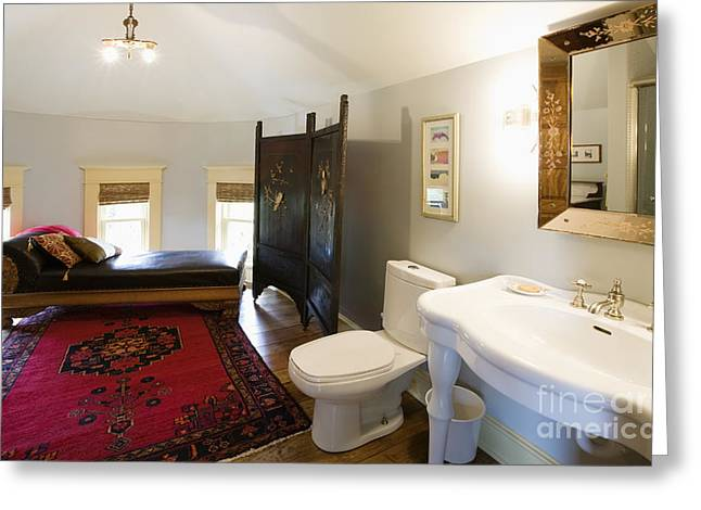 Bathroom With Sitting Area Greeting Card by Andersen Ross