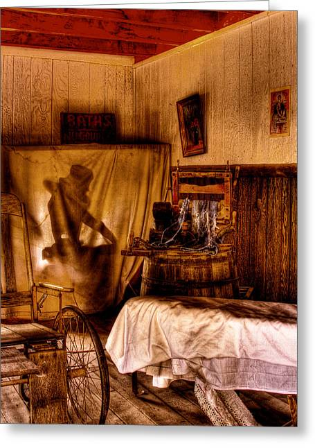 Baths - No Couples - At The Bonnie Springs Ranch Old West Town Greeting Card by David Patterson