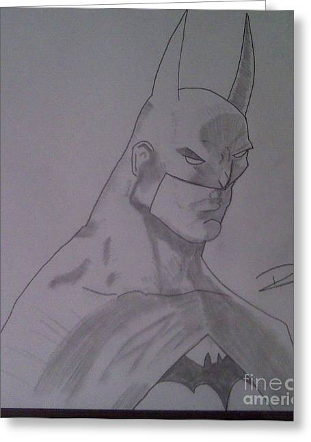 Batman Greeting Card by Ronnie Black
