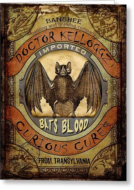 Bats Blood Greeting Card