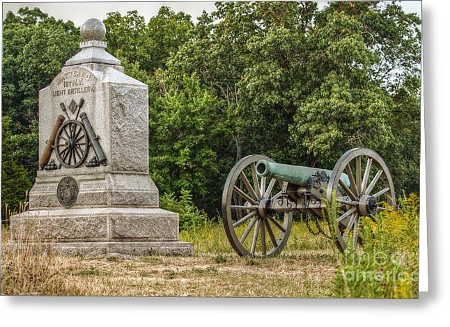 Battery D 1st Ny Light Artillery At Gettysburg Greeting Card by Randy Steele