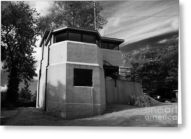 battery observation post at grey point fort Belfast Lough county down Greeting Card
