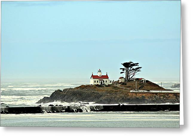 Greeting Card featuring the photograph Battery Point Lighthouse II by Jo Sheehan