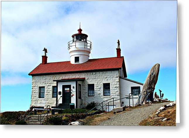Greeting Card featuring the photograph Battery Point Lighthouse by Jo Sheehan