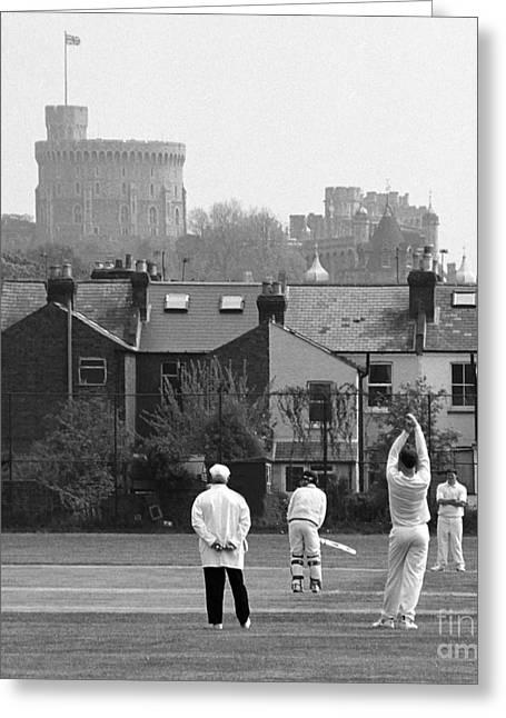 Batting For England Greeting Card