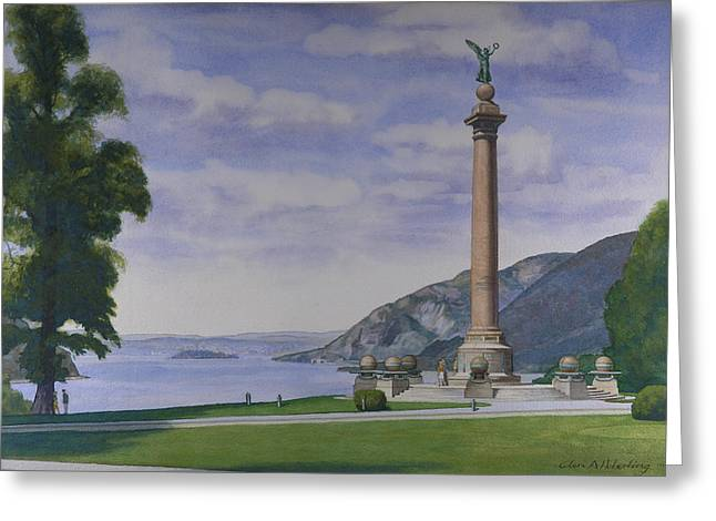Battle Monument  Greeting Card by Glen Heberling