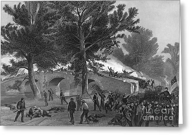 Battle Of Antietam, 1862 Greeting Card