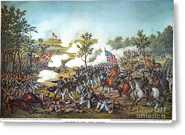 Battle Of Atlanta, 1864 Greeting Card by Granger