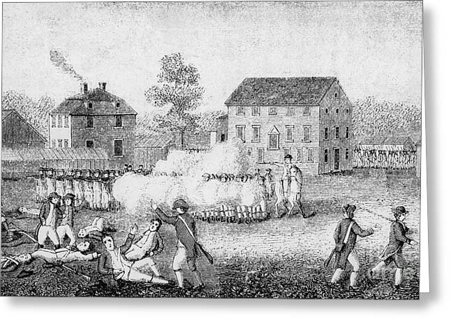 Battle Of Lexington, 1775 Greeting Card by Photo Researchers