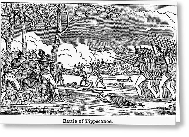 Battle Of Tippecanoe Greeting Card by Granger