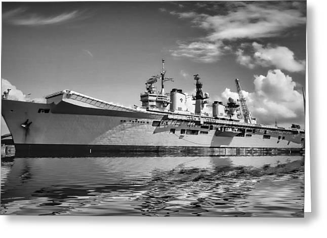 Battleships Greeting Card by Sharon Lisa Clarke