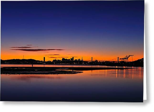Bay Area Sunset Greeting Card by Richard Leon