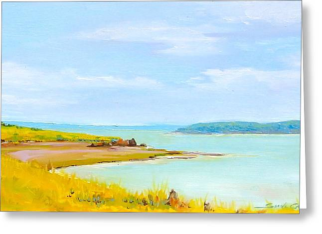 Bay Of Fundy From Eastport Greeting Card