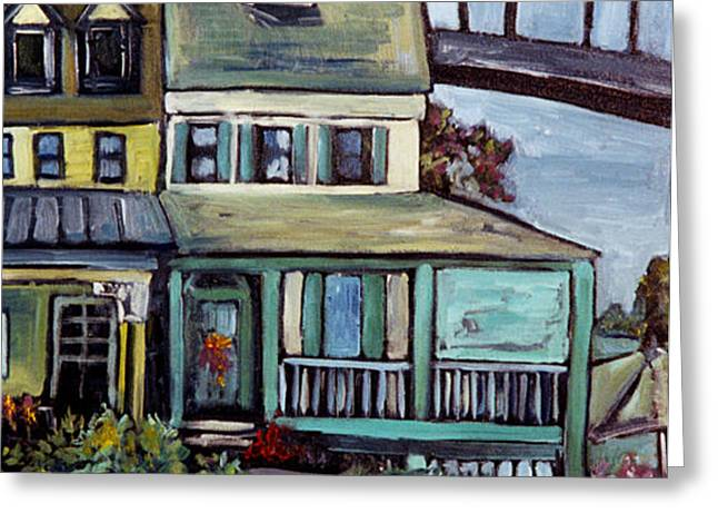 Bayard House In Chesapeake City Greeting Card by Carol Mangano