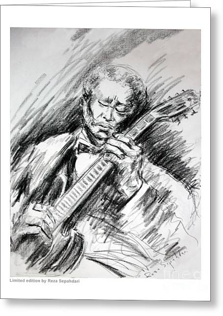 Bb King And Lucille Greeting Card by Reza Sepahdari