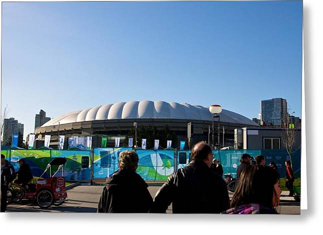 Greeting Card featuring the photograph Bc Place by JM Photography