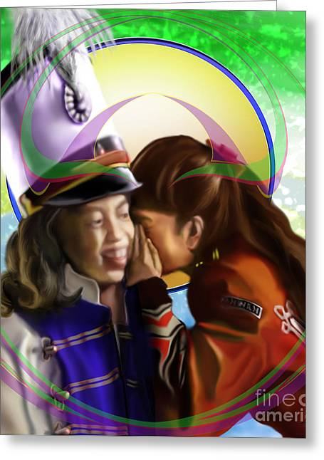 Be Good To Ya - Sugar And Spice With  Ponytail Secrets Greeting Card by Reggie Duffie
